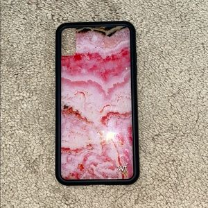 Wildflower iPhone XS Max Case Pink Stone